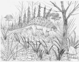 Amtosaurus magnus by briankroesch