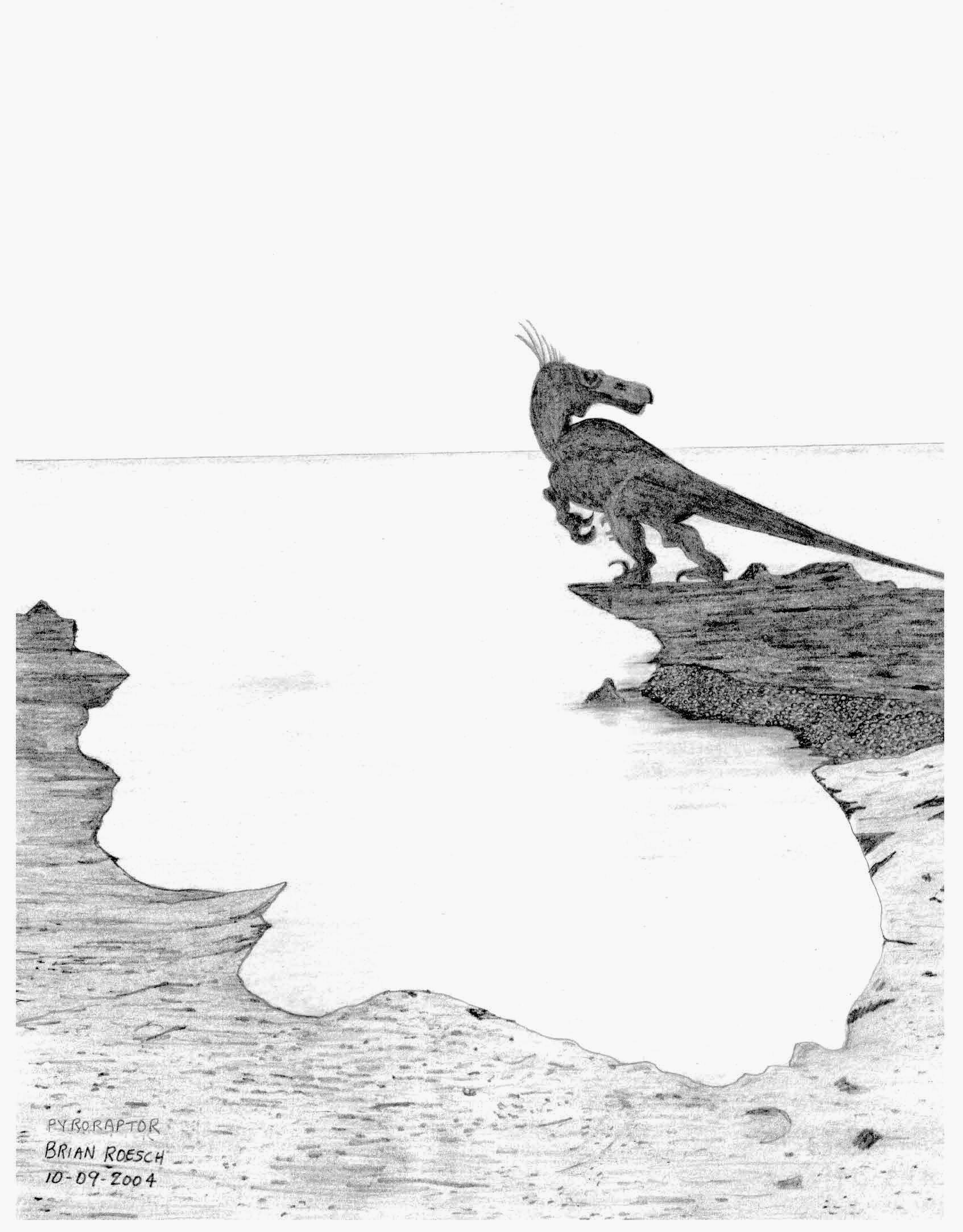 Pyroraptor at sea by briankroesch