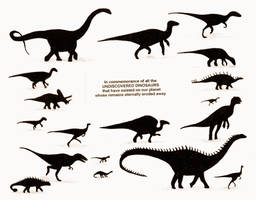 Undiscovered Dinosaurs by briankroesch