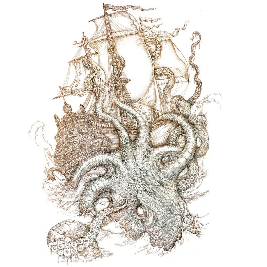 kraken unleashed unplugged by PaperCutIllustration