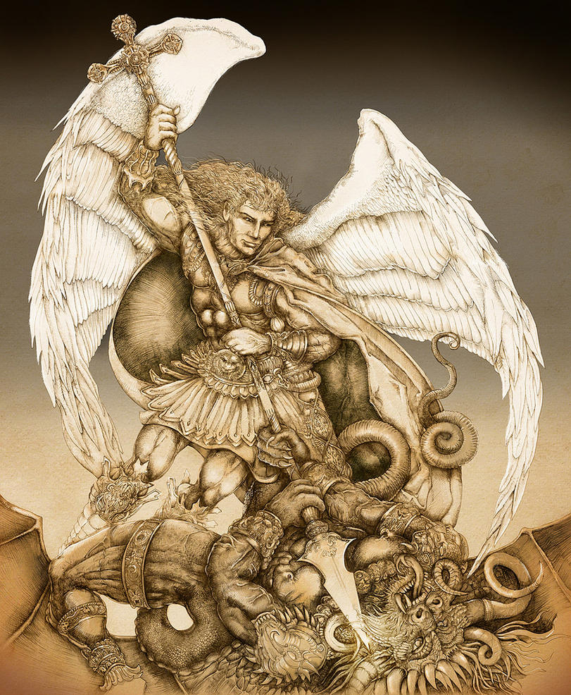 St Raphael Archangel Statue: Archangel Michael By PaperCutIllustration On DeviantArt