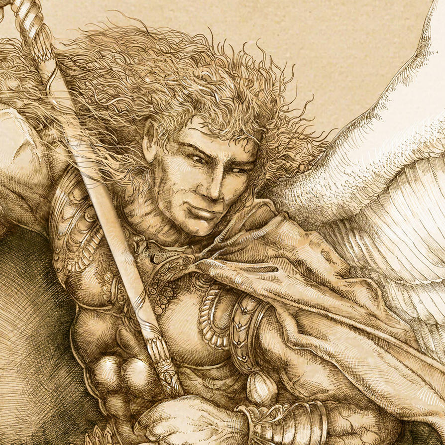 Archangel detail 1 by PaperCutIllustration