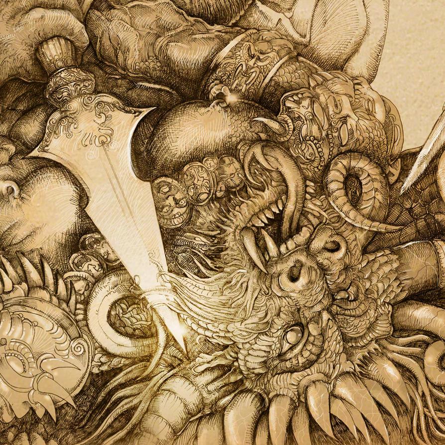 Archangel detail 2 by PaperCutIllustration