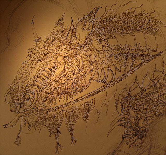 death horse head detail by PaperCutIllustration