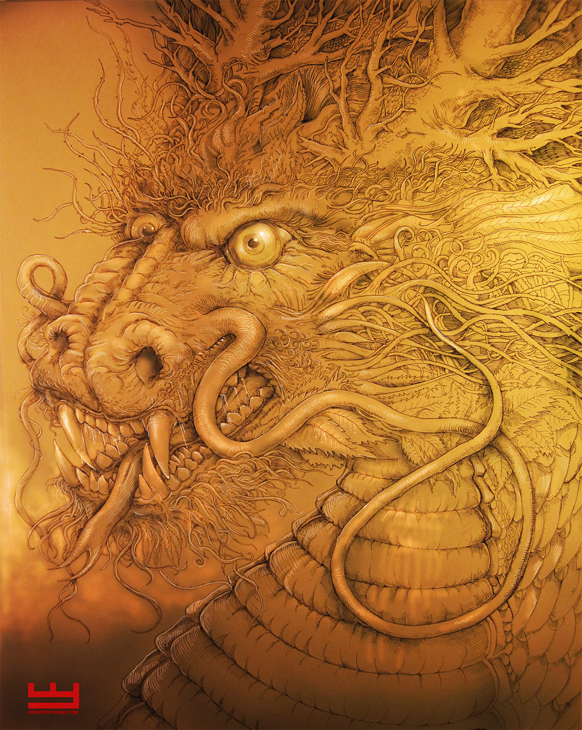 Traditional Chinese Dragon by PaperCutIllustration on ...