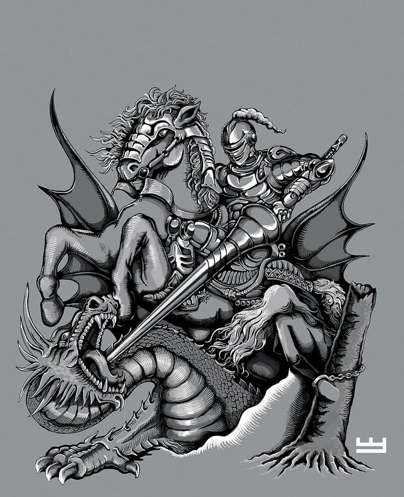 St george v3 by papercutillustration on deviantart for Tattoo shops in st george