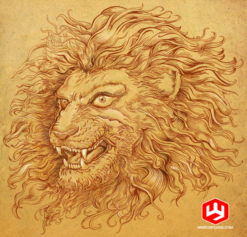 Master-lion900 by PaperCutIllustration