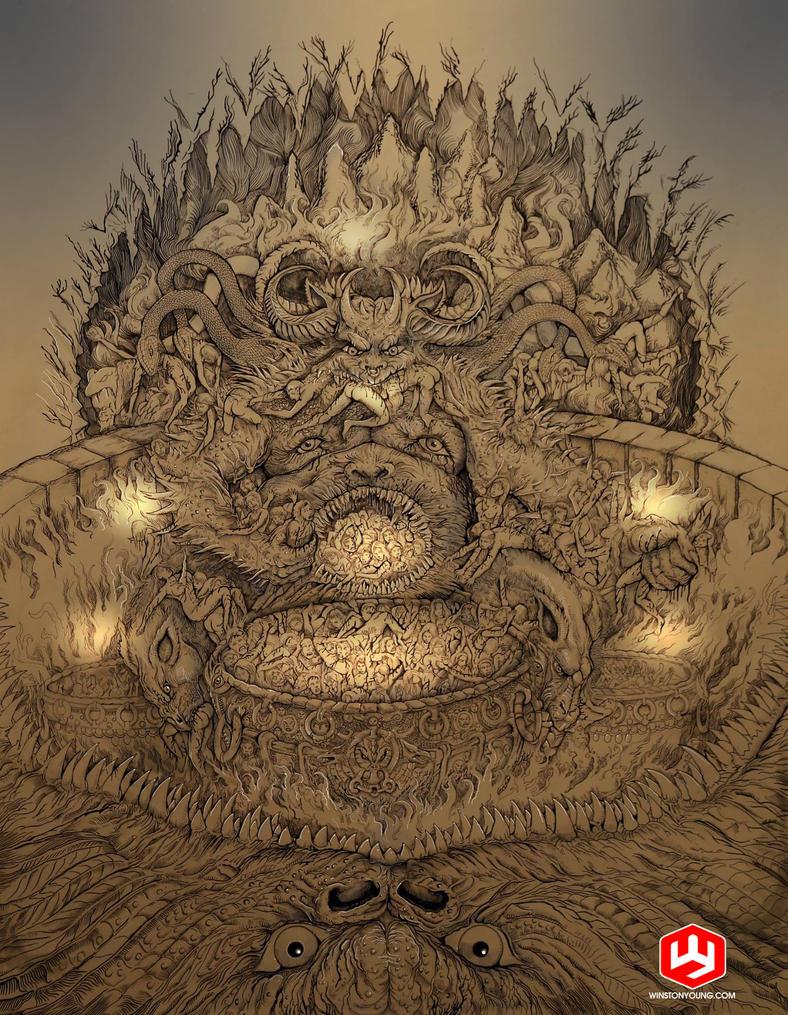 Gatesofhell by PaperCutIllustration
