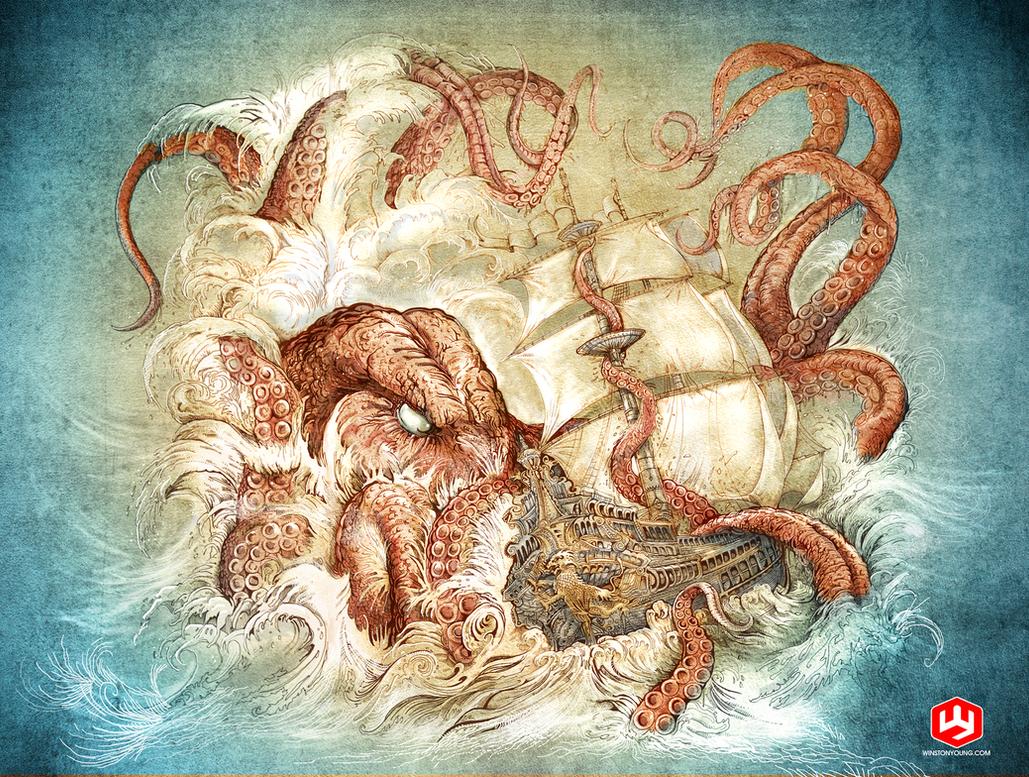 Kraken Unleashed v4 by PaperCutIllustration