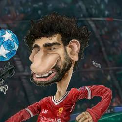 Mohamed Salah Caricature