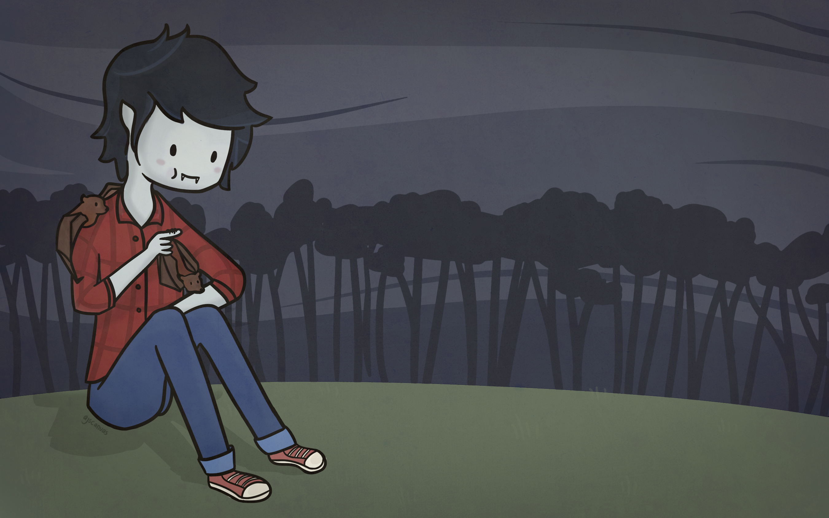 marshall lee wallpaper by ajscanvas on deviantart marshall lee wallpaper by ajscanvas on