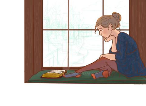 In Progress: Girl Meditating on Scripture