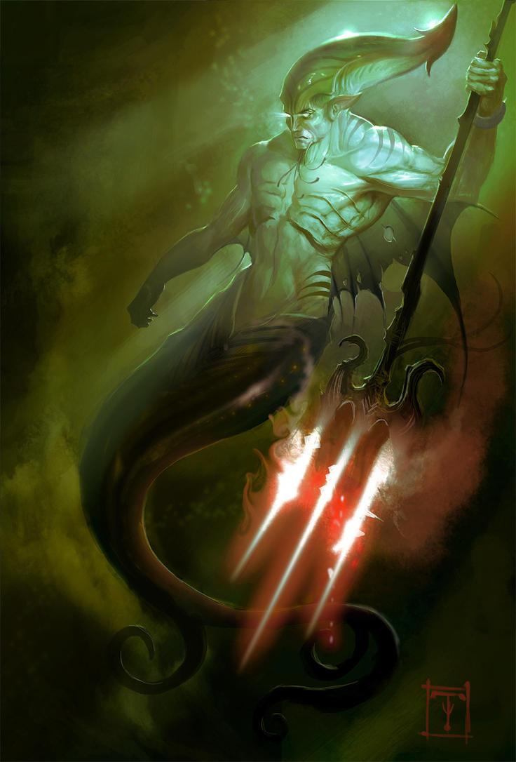 Legedary Marefolk & Sirens of the Deep Merman__by_artofty
