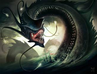 Ocean Dragon by ArtofTy