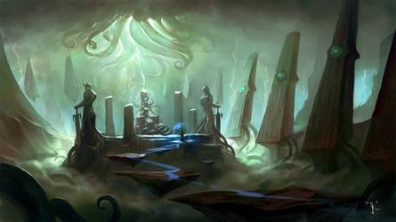 Lovecraft Landscape by ArtofTy