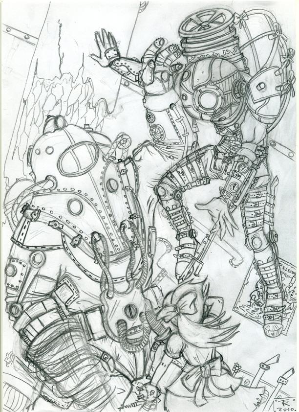 Bioshock-Sketch by Sozante
