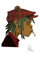 Gorillaz - 2D by Nasivern