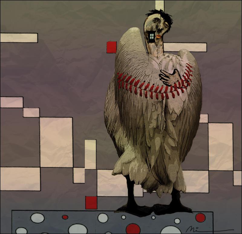 Le pigeon parano by zapzoum