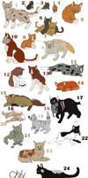 Free Warrior Cat Adopt CLOSED by MeghanMillie
