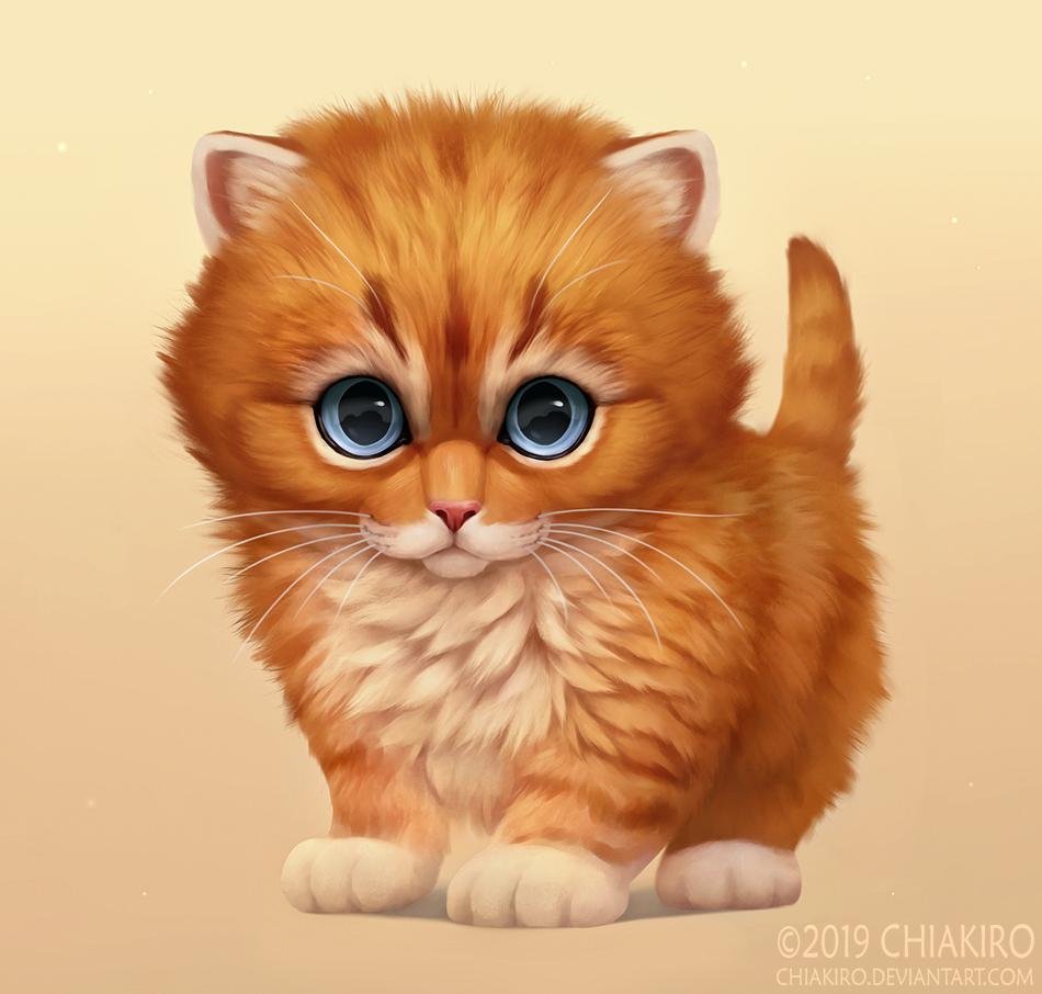 Анимация рыжий кот картинка
