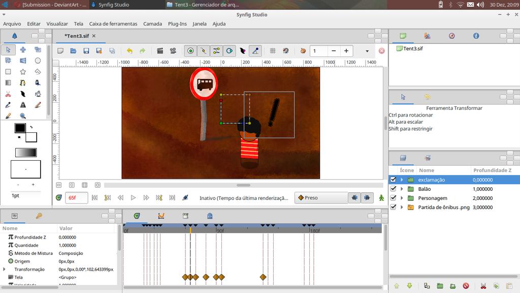 Trabalhando com o Synfig Studio by Lecraf