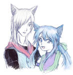 Silver and Sapphire sketch