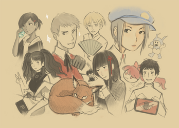Persona characters Sketch
