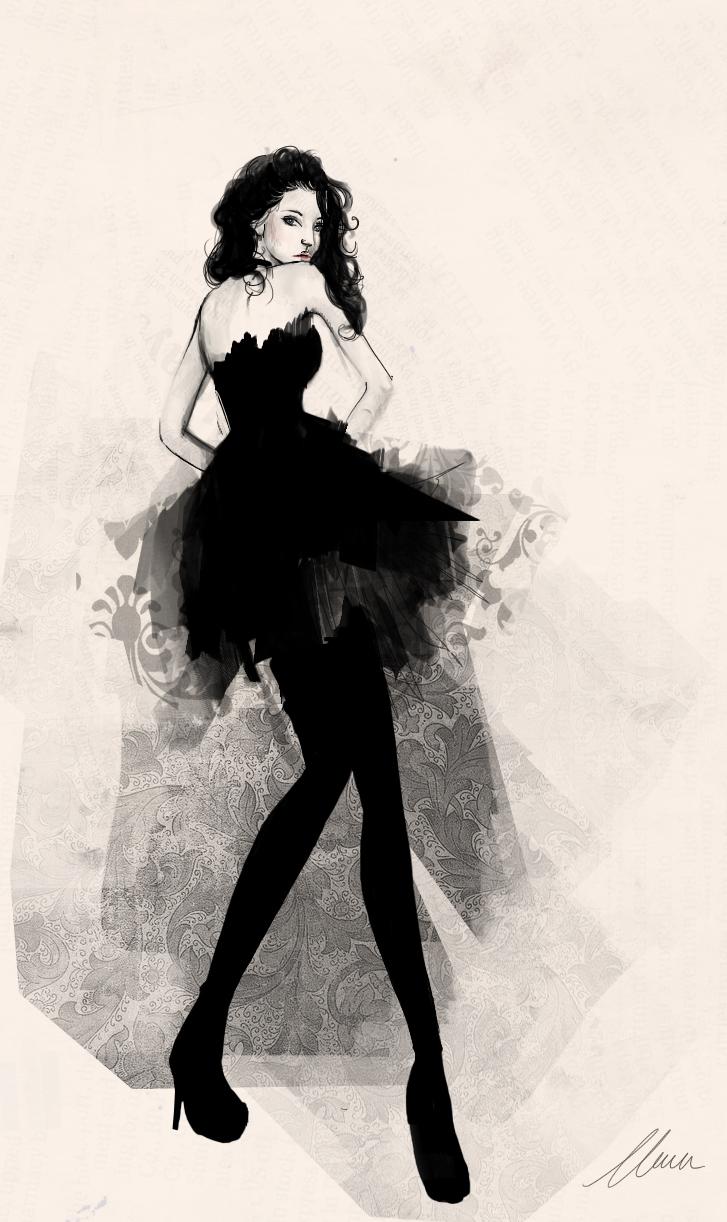 Fashion Sketch By Claramcallister