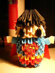3d origami superman by teubo