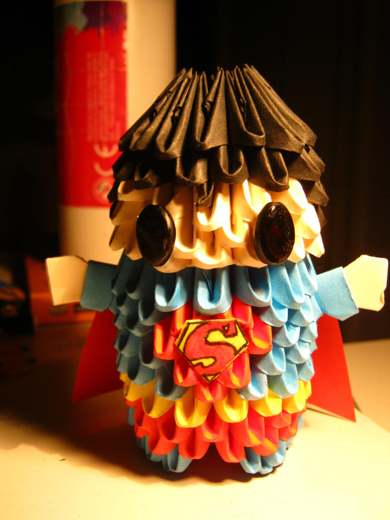 3d origami superman by teubo on deviantart 3d origami superman by teubo jeuxipadfo Image collections
