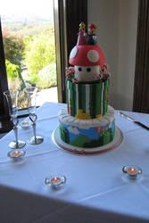 BEST WEDDING CAKE EVAR by Rope-Shrine-Maiden