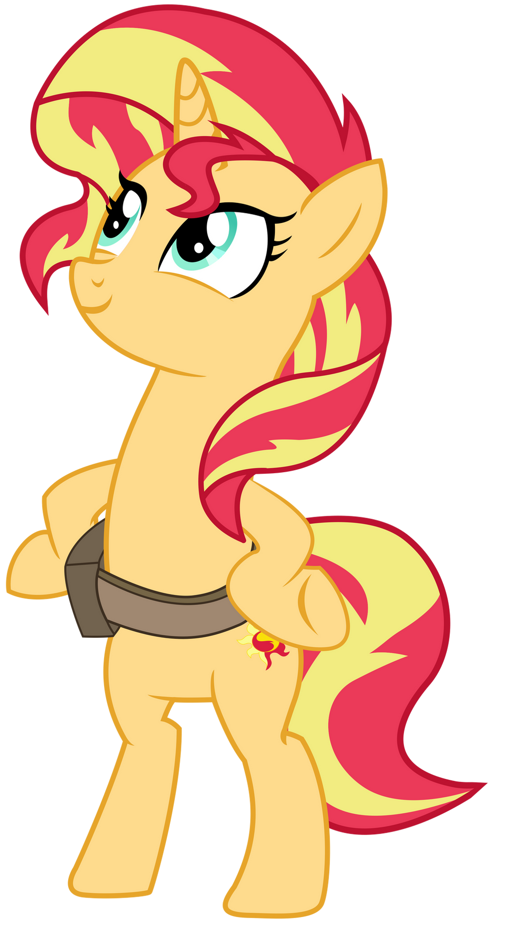 EQG - Biped Pony Sunset Shimmer by REMcMaximus on DeviantArt
