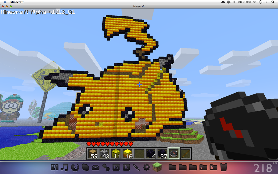 Faceplant Pikachu - Minecraft by Tryangle