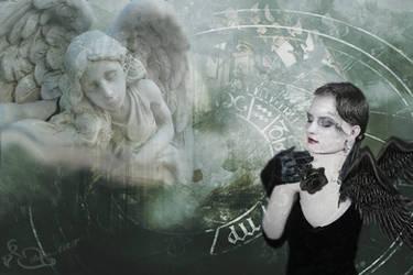 Black and White Angel by bebasv