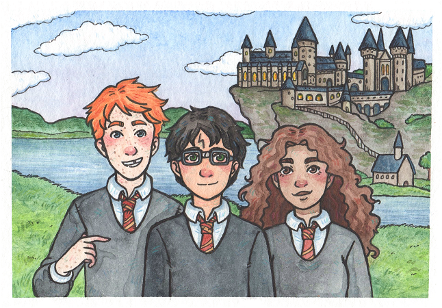 The Golden Trio by Kirschpraline