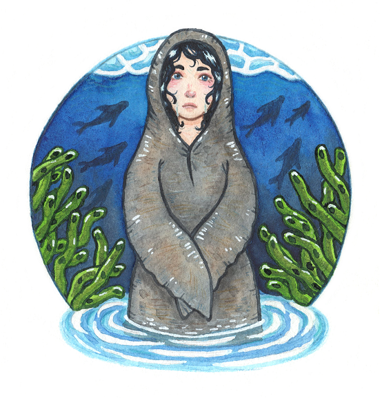 A lonely Selkie by Kirschpraline