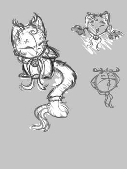 Mini Charon Sketch Pile