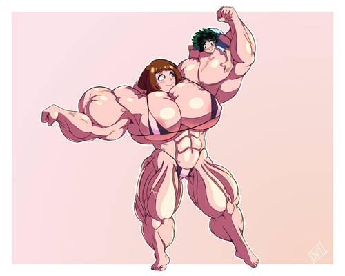 ocahco and deku by boobsandmuscles