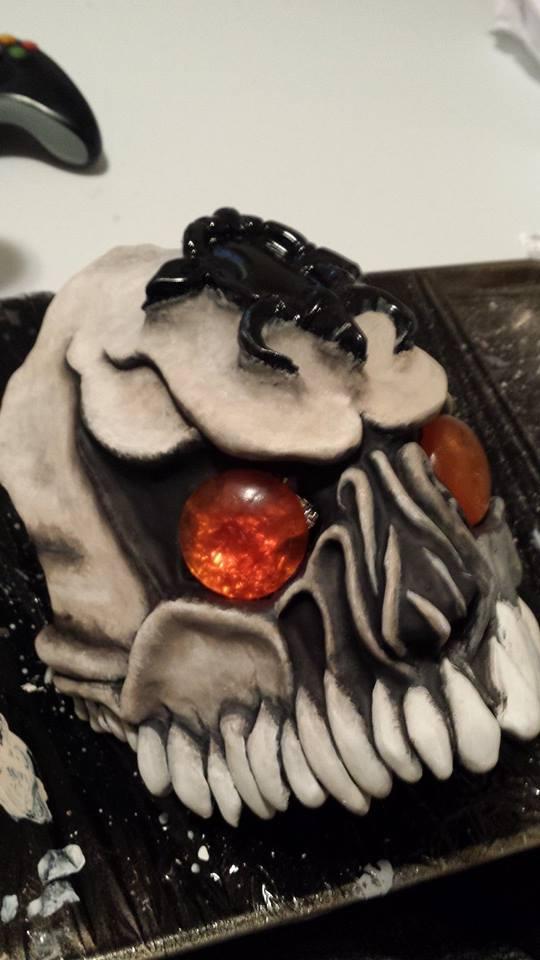 Phantom Ganon mask Progress by Nyte-n-Gale