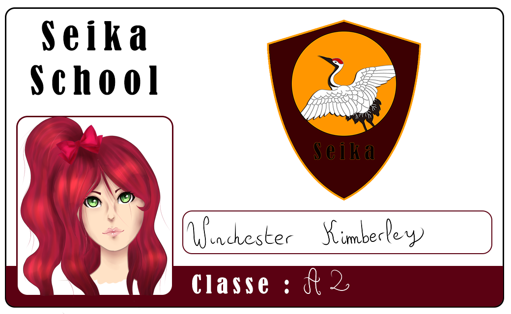 Seika Carte etudiante - Kimberley Winchester by Kimkim-A