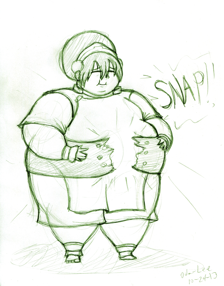 Request 18 Boulder size Toph by Oda-Lee