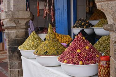 Olives in Essaouira, Marocco by rocksau