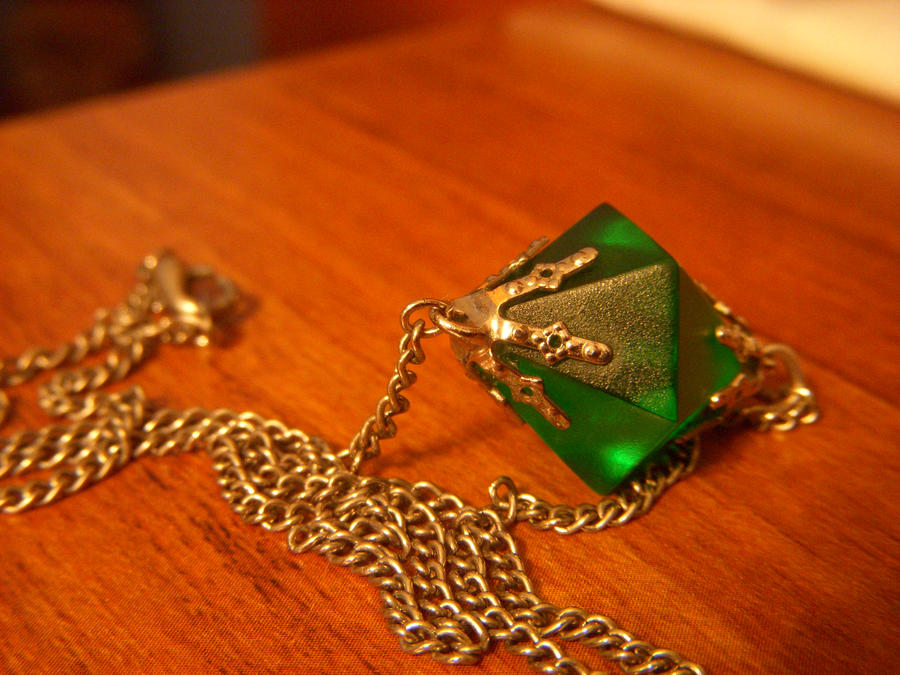 kryptonite necklace by mileycat on deviantart