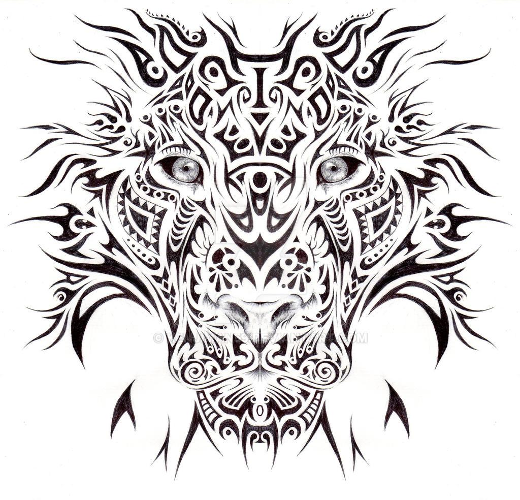 Tribal Lion Art | www.imgkid.com - The Image Kid Has It!