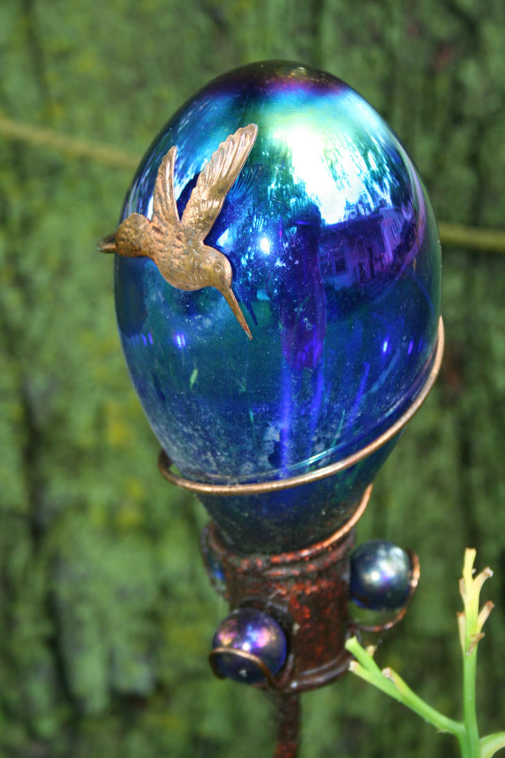 Blue Glass Bulb by JewelsStock