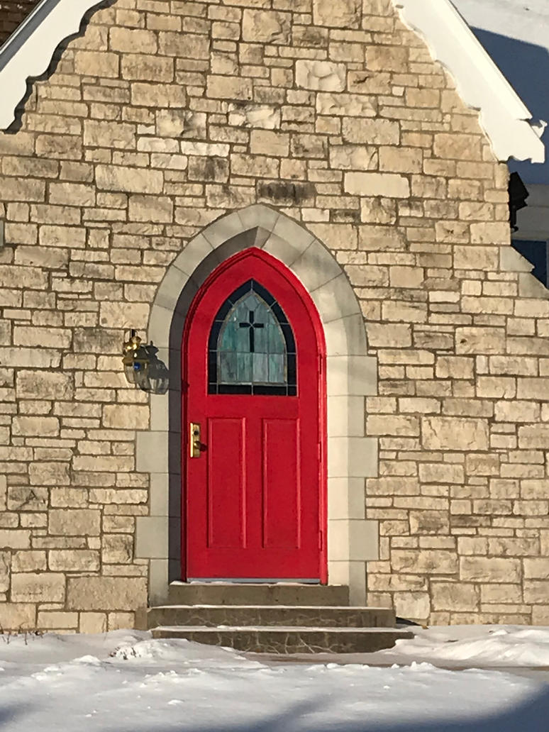Church Red Door by JewelsStock
