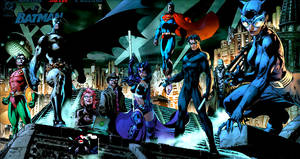 Batman Nightwing Huntress