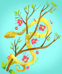 Green tree python by Epicratis