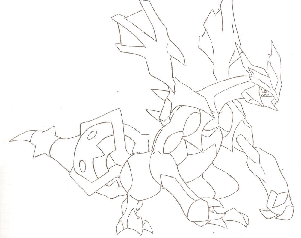 The New Form Of Kyuremblack Kyurem By FairyTail0079