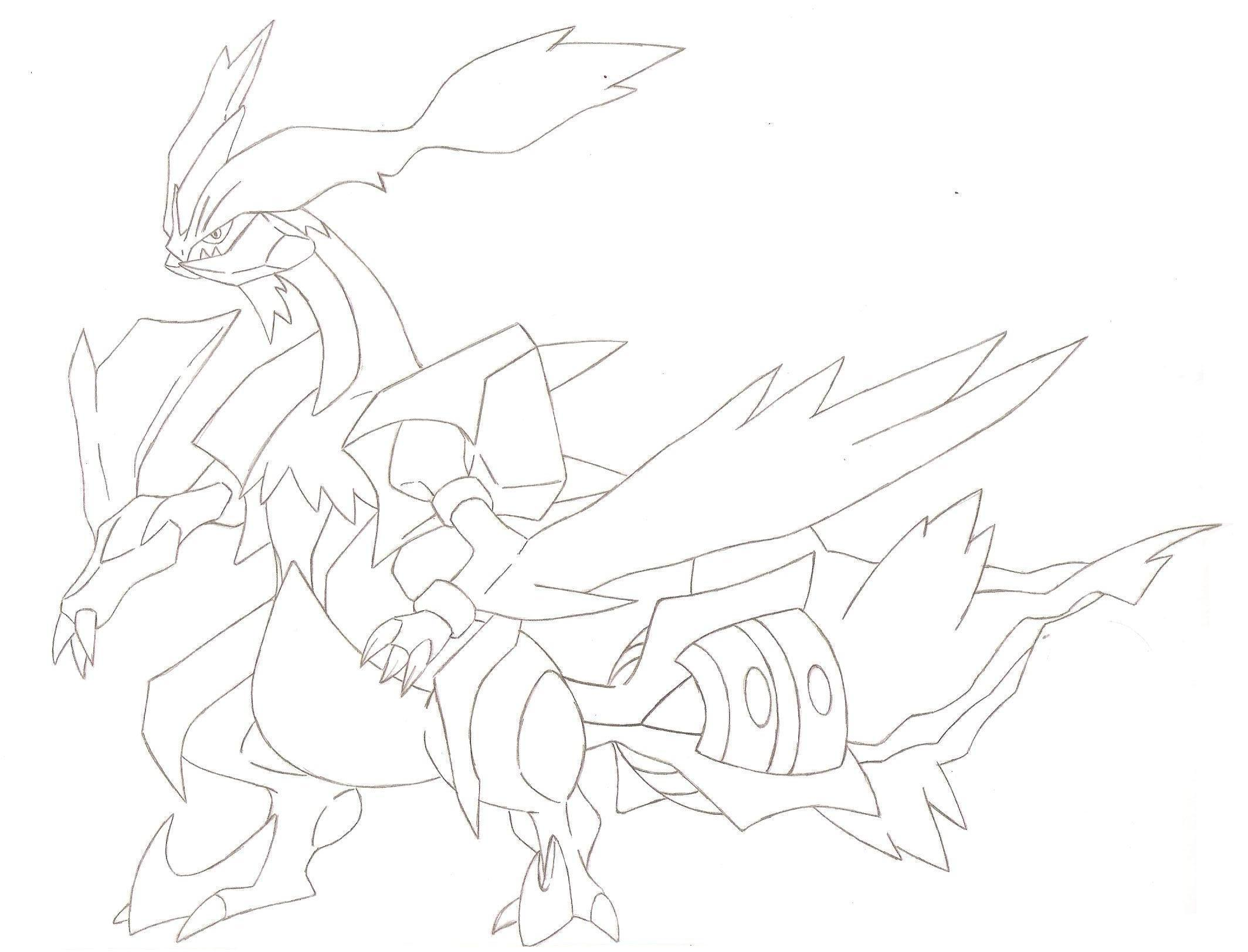 coming from pokemon white 2......WHITE KYUREM by FairyTail0079